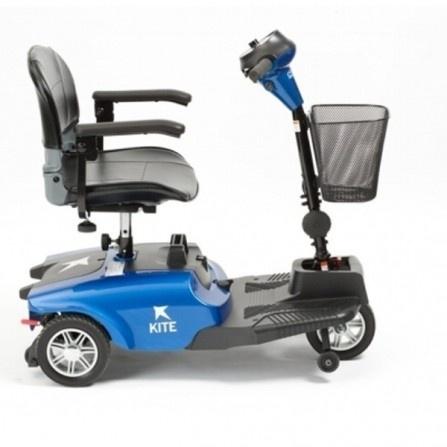 scooter electrico KITE 3 RUEDAS AZUL lateral
